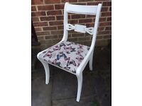 Gorgeous Glenister Chair Painted in any colour & reupholstered in any fabric of your choice