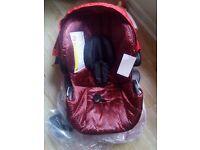 Icoo Acrobat Shop N Drive Baby Car Seat Fishbone Red brand new