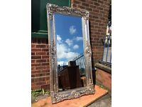 LARGE French / Ornate / Rococo Mirror - Silver Mirror - NEW - Very Thick Frame - Stunning