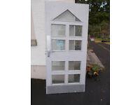 Heavy Duty Glazed Fire Door : 205cm x 93cm x 4.5cm . Reinforced Glass