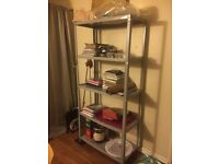 Metal Industrial Shelves in a Light Grey