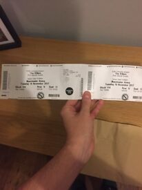 The Killers seated tickets x2 £110 for both £65 each face value block 114