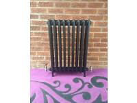 Original, Antique Cast Iron IDEAL Radiator 4 Column 9 Section, Freestanding.