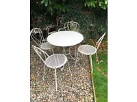 Shabby Chic Garden Table Set