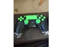 PS4 controller (custom green)