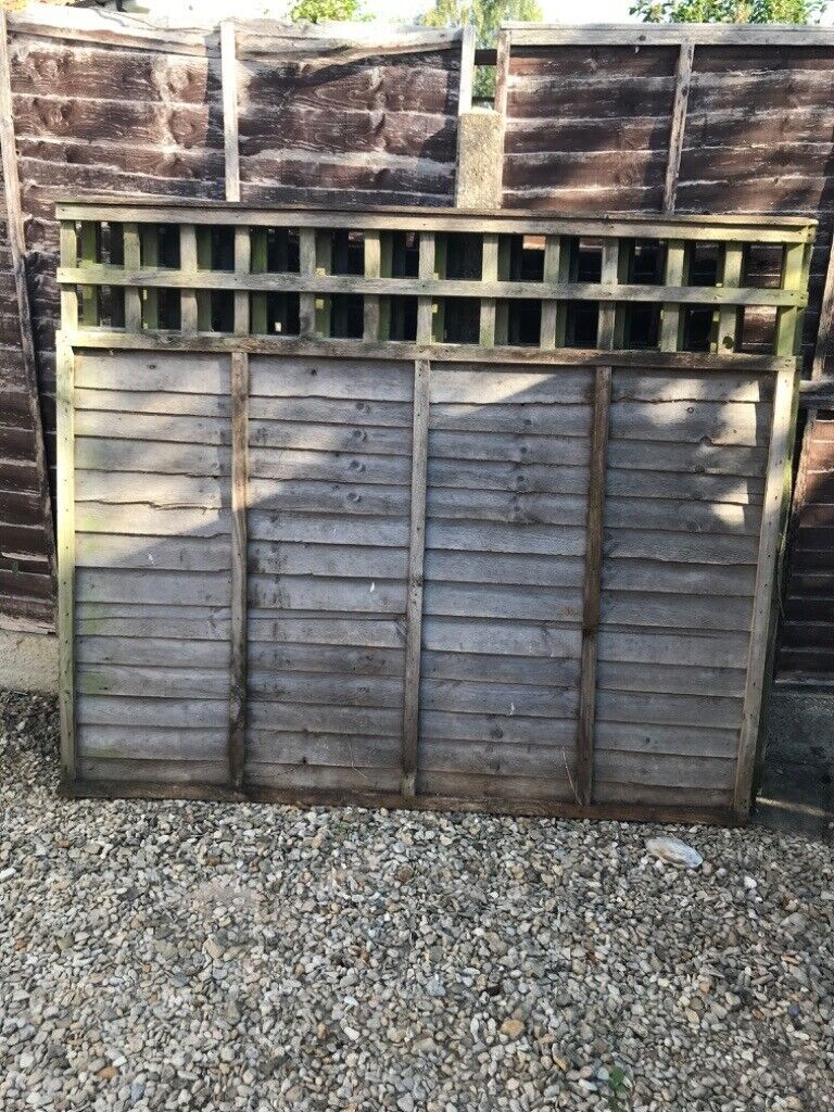 4 Fence Panels With Trellis Top 5ft X 6ft In Stowmarket Suffolk Gumtree