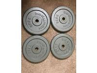4 x 7.5kg weight disks/plates