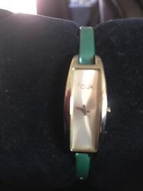 FCUK green watch
