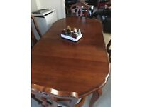 Huge extending Christmas dining table & 4 chairs - can easily sit 10 if needed