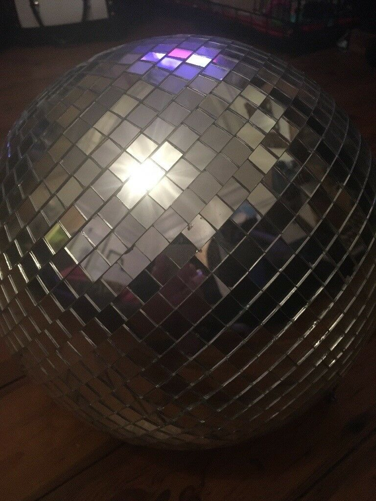 Large disco glitter mirror ball on chaini