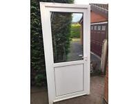 White Upvc back door