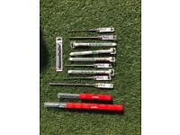 Various size sds and wooden drill bits