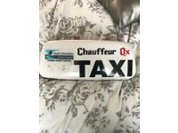Taxi Roof Box Sign