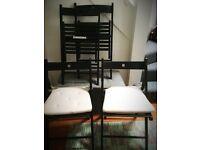 IKEA 4 Folding Chairs - Black £20.00