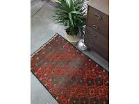 ZARA - Antique Traditional Vintage Afgan Wool 163 x 85cm Handmade Carpet Rug