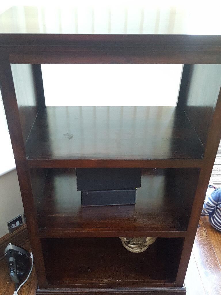 Solid Wood Bookcase Display Cabinet Shelving Storage Hi Fi  # Hifi Furniture Wood High Quality