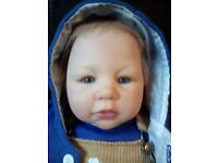"""Ashton Drake Collectors Doll, """"Kevin's first railway ride."""" Real touch head and limbs."""