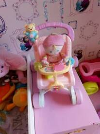 My 1st doll and buggy