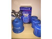 BRAND NEW: Camping Stove W/ Cartridges