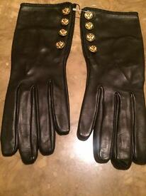 Chanel Black Russian Leather Gloves