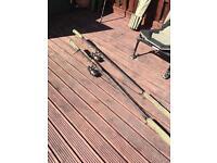 Two rod carp set up