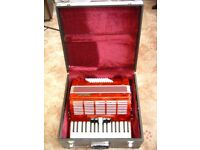 Stephanelli 72 Bass 34 keys Piano Accordion 3 voice 5 Register with Case