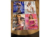 Job Lot of Vogue/Elle Magazines