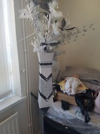 Silver Grey Vase modern posh
