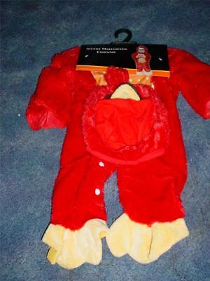 NEW INFANT RED BIRD HALLOWEEN COSTUME PARTY OSFM DRESS UP BABY