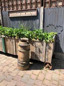 vintage chimney pot garden planter wedding prop decoration pond
