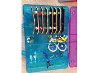 Assortment of Tech Deck items