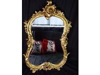 Fancy Large Louis XVI French Rococo Style Acanthus Shell Pier Glass Gilt Mirror