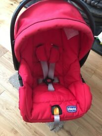 Chicco car seat, red, great condition, £20