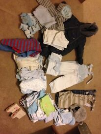 Excellent quality- mostly designer bundle so of boy clothing. Baby, 3-9m 9-12m, 18m and 3-4yrs