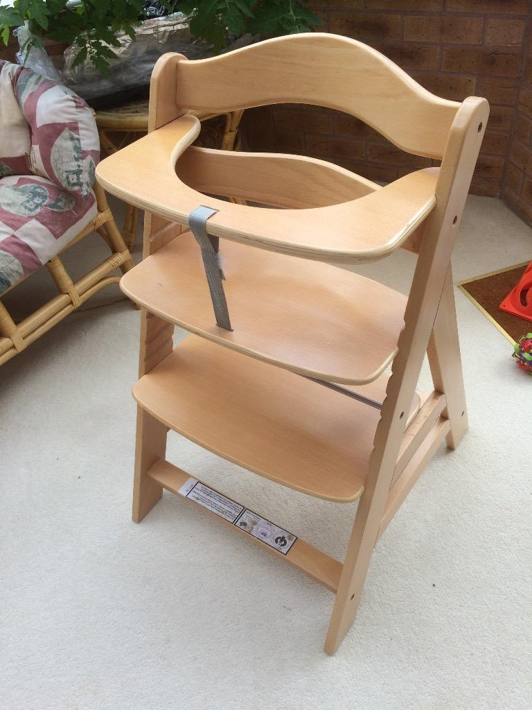hauck wooden high chair in swindon wiltshire gumtree. Black Bedroom Furniture Sets. Home Design Ideas