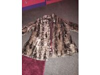 SIZE 18 FAUX FUR COAT BY RIVER ISLAND