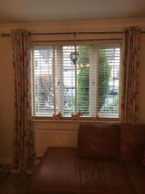Next flowered curtains and curtain pole