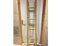 Bamboo towel / clothes rack - rustic look