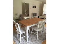 Vintage, shabby chic table & 4 chairs