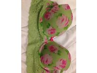 Gorgeous Green 34D Gilly Hicks with lace £13