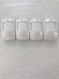 Four band new PIR burglar alarm sensors