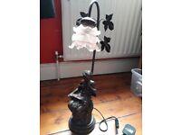 Art Nouveau Bronze Effect Table Lamp