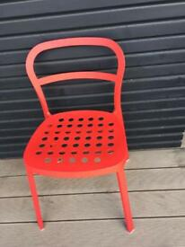 RED CHAIRS - a stylish pair
