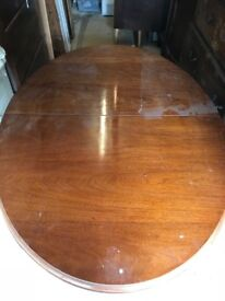 Antique Extendable Wooden Dining Table