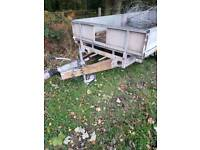 Ifor Williams flat bed trailer