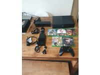 Microsoft Xbox One Model 1540 500gb Black plus kinetic and headset with 5 games fully work