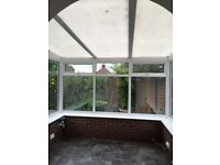 polycarbonate roof panels 15mm 3 panels , good condition , plus all fixings , opal colour