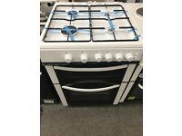 New Graded Logik 60cm Gas Cooker - White