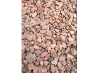FOR FREE!!! APPROX 3-4 TONNES OF RED CHIP STONES BAGGED AND READY FOR COLLECTION ASAP!!!