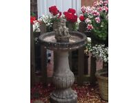 Very large beautiful stone bird bath
